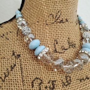🆕️I.N.C.•Silvertone, crystals, beads & rhinestone